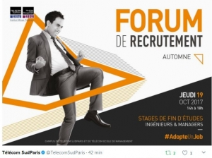 FORUM RECRUTEMENT TELECOM SUD PARIS ET TELECOM ECOLE DE MANAGEMENT, OCTOBRE 2017